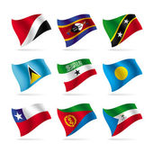 Set of world flags 11 — Vector de stock