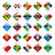 World flag icons — Stok Vektör