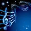Background on a musical theme — Stock Vector #17692869