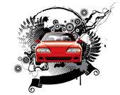 фон с автомобилем — Cтоковый вектор
