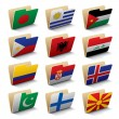 World folders icons — Stock Vector