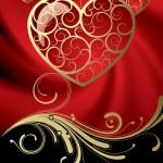 Открытка с сердцем — Cтоковый вектор