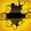 Stock Vector: Abstract yellow-black background