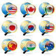 World flag icons - Stock Vector