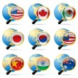 World flag icons — Stock Vector #18889405