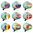 World flag icons - Vettoriali Stock