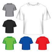 Set of ready t-shirts — Stock Vector