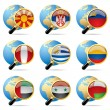 World flag icons — Stock Vector #18890261