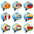 Stock Vector: World flag icons