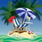 Tropical island — Stock Vector #24429105