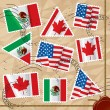 Royalty-Free Stock Vector Image: Postage stamps with flags