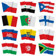 Set of world flags - Stock Vector