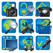 Royalty-Free Stock Imagen vectorial: Website and internet icons 1