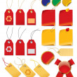 Set of price tags - Stock Vector