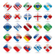 Stock Vector: World flag icons 1