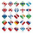 World flag icons 1 - Image vectorielle