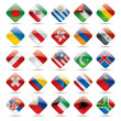 World flag icons 3 — Vettoriali Stock