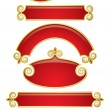 Red-gold banners 2 — Stock Vector