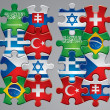 Puzzle flag icons 4 — Stock Vector