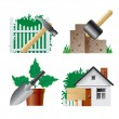 Landscaping icons 1 — Stock Vector