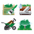 Vector de stock : Landscaping icons 2