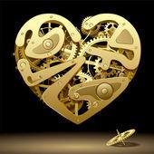 Clockwork Heart — Stock Vector