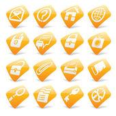 Orange website and internet icons 1 — Stock Vector