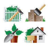 Landscaping icons 1 — Stockvektor