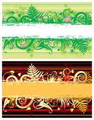 Två blommor banners — Stockvektor