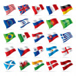 Set of world flags 1 - Stock Vector