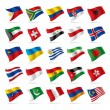 Set of world flags 3 — Stock Vector
