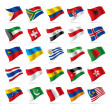 Stock Vector: Set of world flags 3