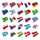 Set of world flags 1 — Stock Vector