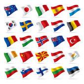Dünya bayrakları 2 set — Stok Vektör