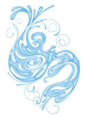 Whorl of water — Stock Vector