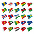 Set of world flags 5 — Stock Vector
