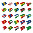 Set of world flags 5 - Stock Vector