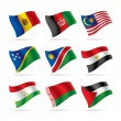 Set of world flags 6 - Stock Vector