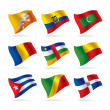 Set of world flags 7 — Stock Vector
