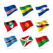 Stok Vektör: Set of world flags 8