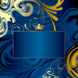 Gold-blue abstract background — Stock Vector