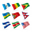 Set of world flags 9 - Stock Vector