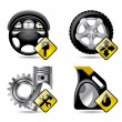Automobile service icons - Stock Vector