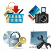 Stock Vector: Computer & web icons II