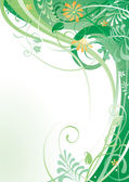 Herbal background — Stock Vector