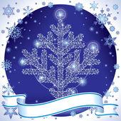 Silver christmas tree — Stock Vector