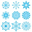 Snow-flakes - Stock Vector