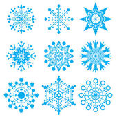 Snow-flakes — Stock Vector