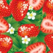 Strawberry seamless - Stock Vector