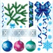 Christmas & New-Year's decorations — Stock Vector